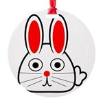 Spring Bunny Round Ornament
