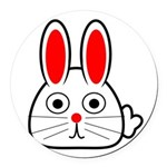 Spring Bunny Round Car Magnet