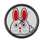 Spring Bunny Large Wall Clock