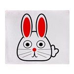Spring Bunny Throw Blanket