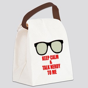 Nerdy_Simple_final Canvas Lunch Bag