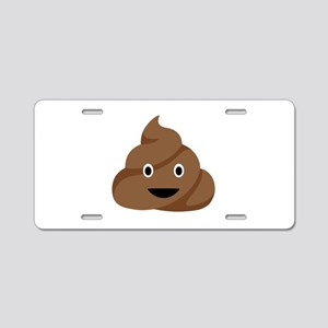 Poop Emoticon Aluminum License Plate