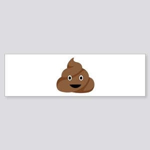 Poop Emoticon Bumper Sticker