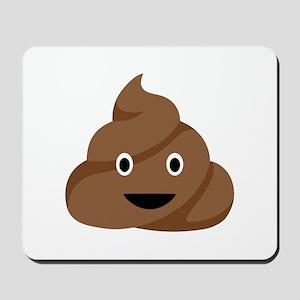 Poop Emoticon Mousepad