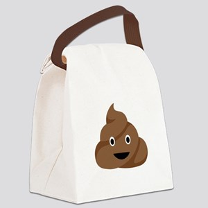 Poop Emoticon Canvas Lunch Bag