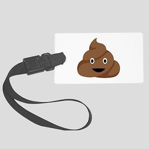 Poop Emoticon Luggage Tag
