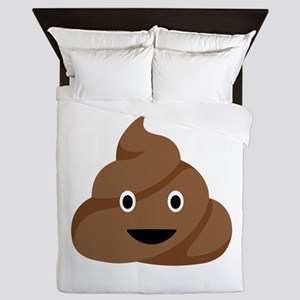Poop Emoticon Queen Duvet