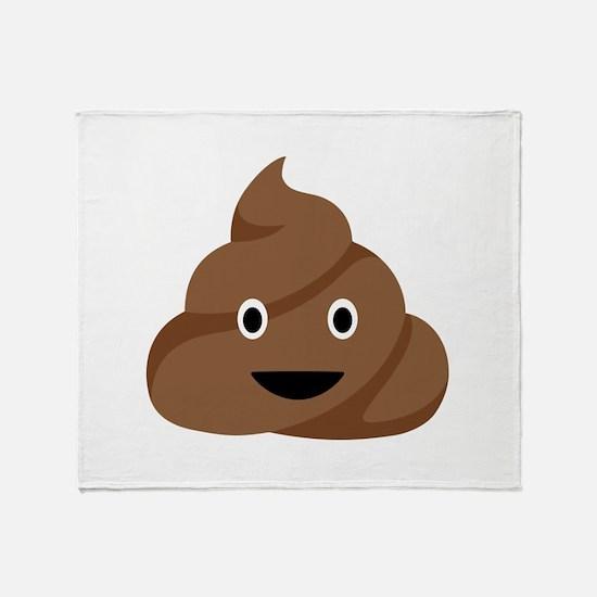 Poop Emoticon Throw Blanket