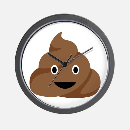 Poop Emoticon Wall Clock