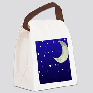 Moon and Stars Canvas Lunch Bag