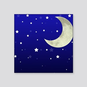 """Moon and Stars Square Sticker 3"""" x 3"""""""
