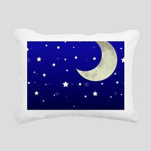 Moon and Stars Rectangular Canvas Pillow