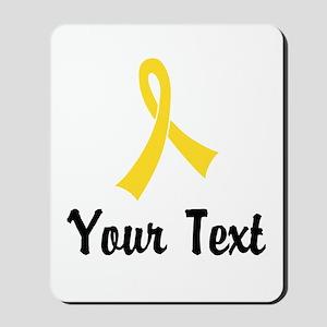 Personalized Yellow Ribbon Awareness Mousepad