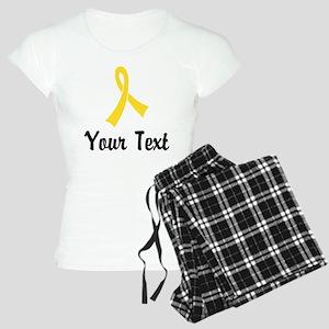 Personalized Yellow Ribbon Women's Light Pajamas