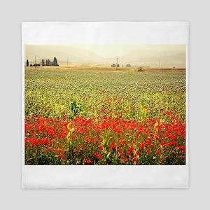 Field of Poppies Queen Duvet
