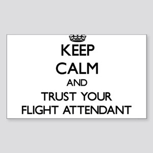 Keep Calm and Trust Your Flight Attendant Sticker