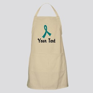 Personalized Teal Ribbon Awareness Apron