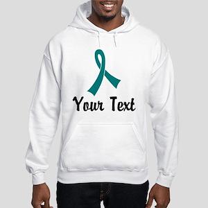 Personalized Teal Ribbon Awarene Hooded Sweatshirt