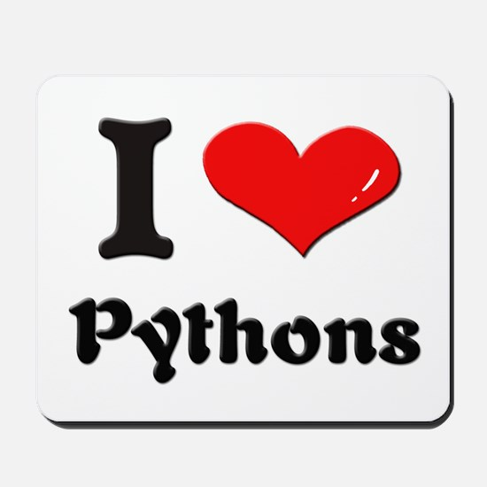 I love pythons  Mousepad