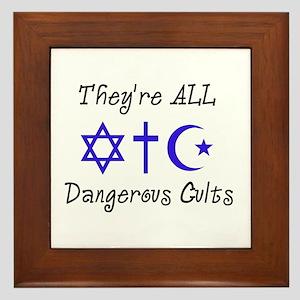 Dangerous Cults Framed Tile