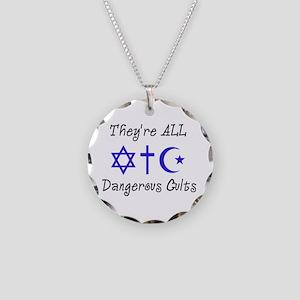 Dangerous Cults Necklace Circle Charm
