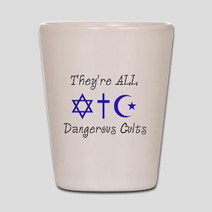 Dangerous Cults Shot Glass