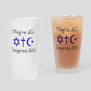 Dangerous Cults Drinking Glass