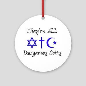 Dangerous Cults Round Ornament