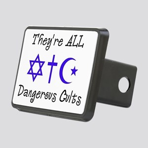 Dangerous Cults Rectangular Hitch Cover