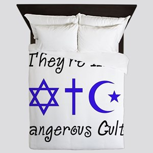 Dangerous Cults Queen Duvet