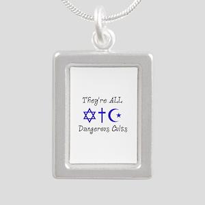 Dangerous Cults Silver Portrait Necklace