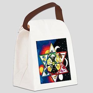 Star of David - Light Canvas Lunch Bag