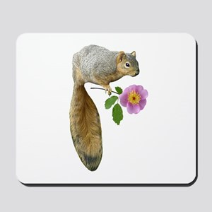 Squirrel with Flower Mousepad