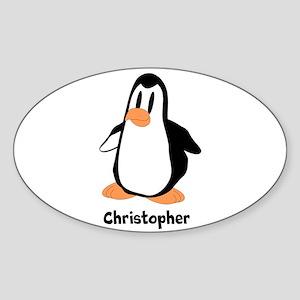 Personalized Penguin Design Sticker