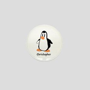 Personalized Penguin Design Mini Button