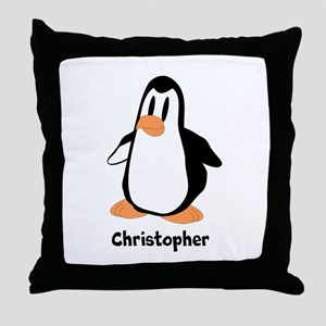 Personalized Penguin Design Throw Pillow