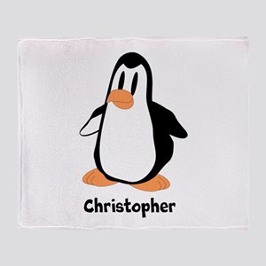 Personalized Penguin Design Throw Blanket