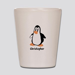 Personalized Penguin Design Shot Glass