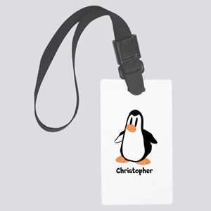 Personalized Penguin Design Large Luggage Tag
