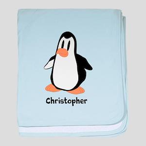Personalized Penguin Design baby blanket