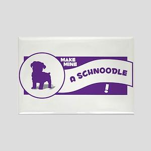 Make Mine Schnoodle Rectangle Magnet