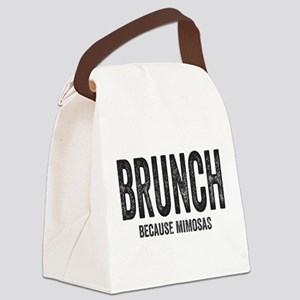 Brunch Because Mimosas Canvas Lunch Bag
