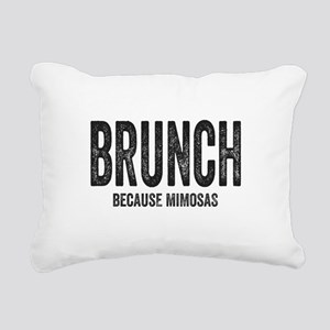 Brunch Because Mimosas Rectangular Canvas Pillow