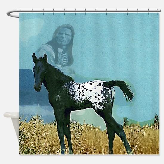 Nez Perce Pony Shower Curtain