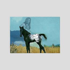 Nez Perce Pony 5'x7'Area Rug