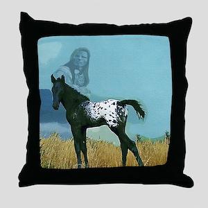 Nez Perce Pony Throw Pillow