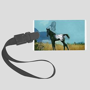 Nez Perce Pony Large Luggage Tag