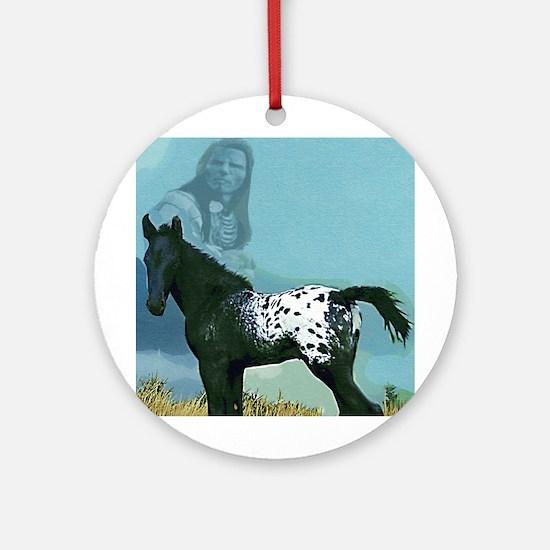 Nez Perce Pony Ornament (Round)