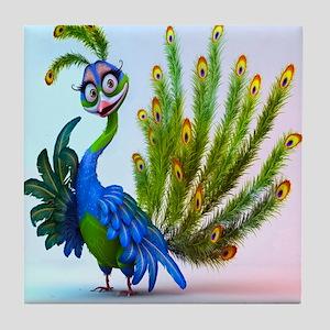 Prissy Peacock Tile Coaster