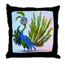 Prissy Peacock Throw Pillow
